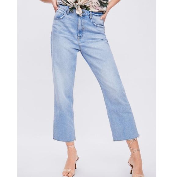 Zara Denim - nwt ZARA z1975 high rise straight cropped jeans